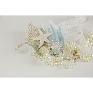 Mermaid Shell and Pearl Headband