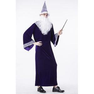 Harry Potter Purple Dumbledore Wizard Costume