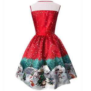 Printed Christmas Dress