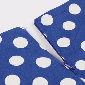 Blue and White Polka Dot 50's Dress