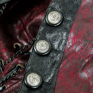 Gothic Red and Black Steampunk Shrug