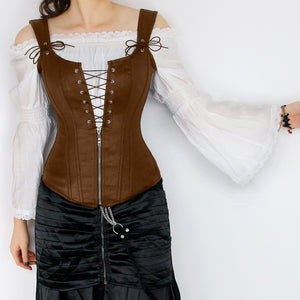 Brown Strappy Corset