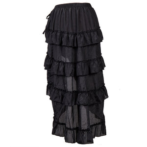 Black High-Low Steampunk Skirt