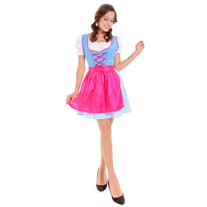 Blue and Pink Ladies Oktoberfest Dirndl