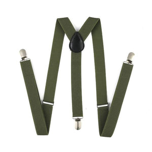 Khaki Green Suspenders