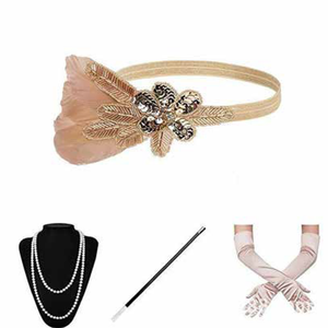 Blush 1920s Gatsby Flapper Set
