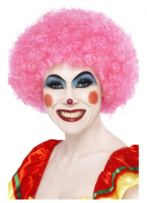 Pink Afro Clown Wig