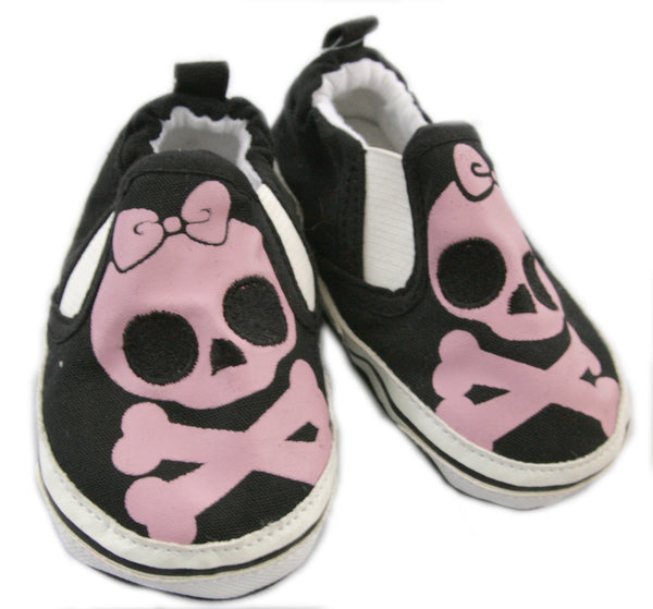 Pink Skull Baby Shoes