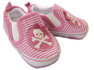Pink & White Stripe Shoes