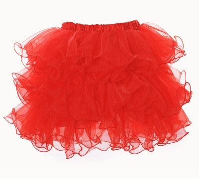 Scalloped Tutu Red