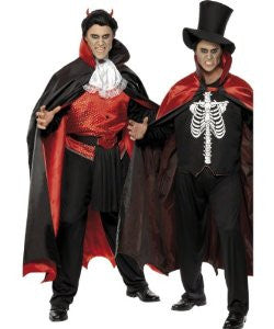 Vampire and Skeleton Reversible Mens Costume