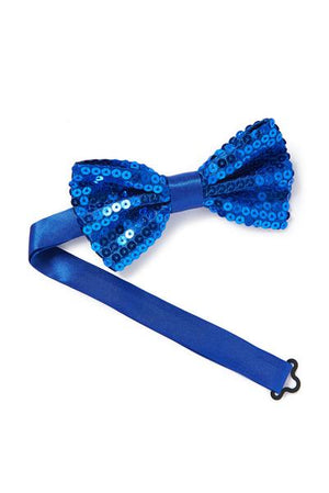 Royal Blue Sequined Bowtie