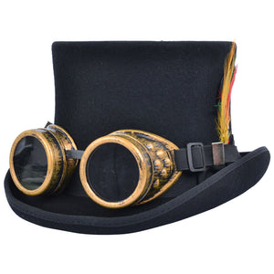 Brushed Silver Steampunk Goggles