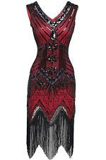 Red 1920's Great Gatsby Dress