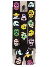 Day of the Dead Sugar Skull Suspenders