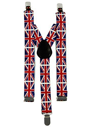 Union Jack Flag Suspenders