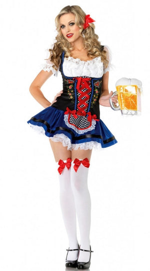 Women's Oktoberfest Blue Polkadot Dress
