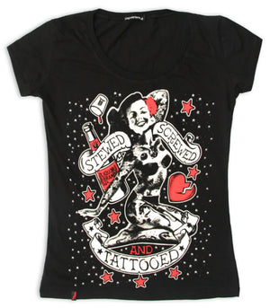 Liquorbrand Stewed, Screwed & Tattooed T-Shirt