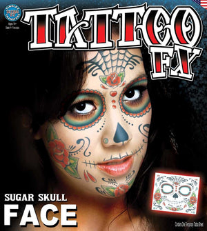 Sugar Skull Full Face Tattoo