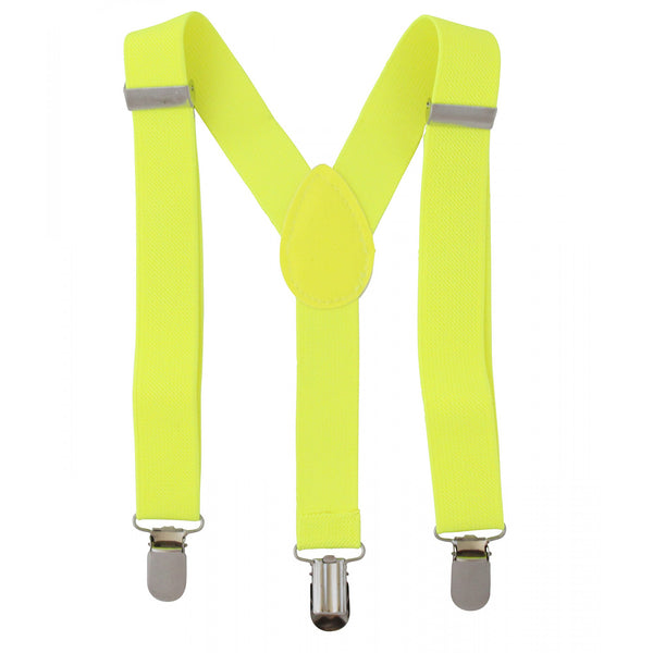 Fluro Yellow Suspenders