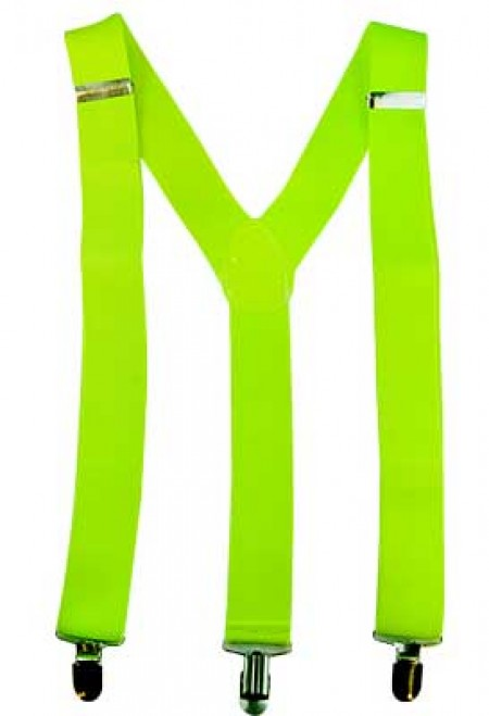 Fluro Green Suspenders