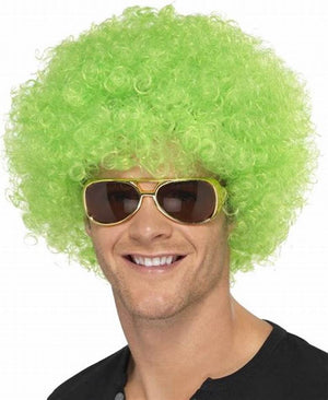 Lime Green Afro Wig