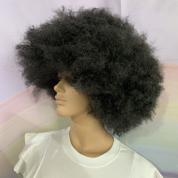 70's Crimped Black Afro