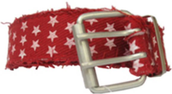 Red Cotton Belt with White Stars