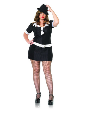Leg Avenue Gangster Mafia Plus Size Costume