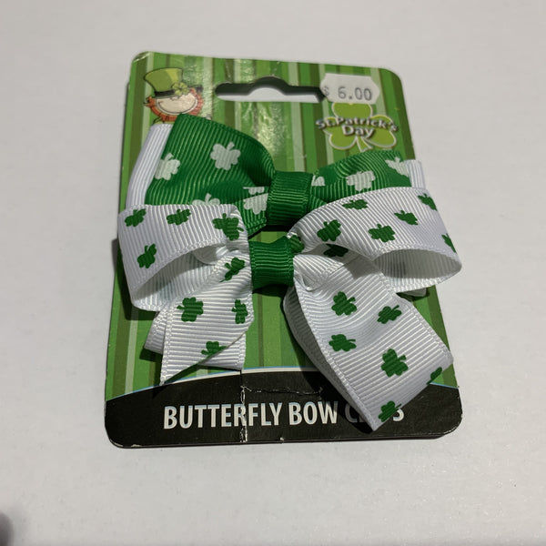 Shamrock Hair Bow 2 Pack