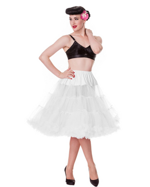 Deluxe Three Tiered White Petticoat