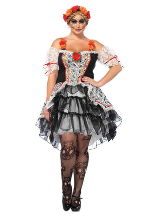 Sugar Skull Day of the Dead Senorita Costume