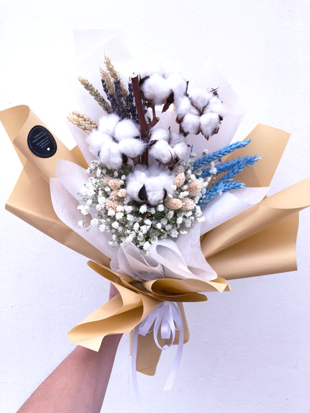 Dried Cotton Bouquet