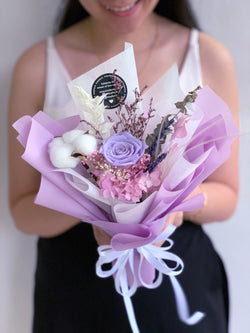 Everlasting (Preserved Purple Roses - Single Stalk)