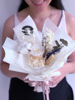 Purity (Preserved White Roses - Single Stalk)