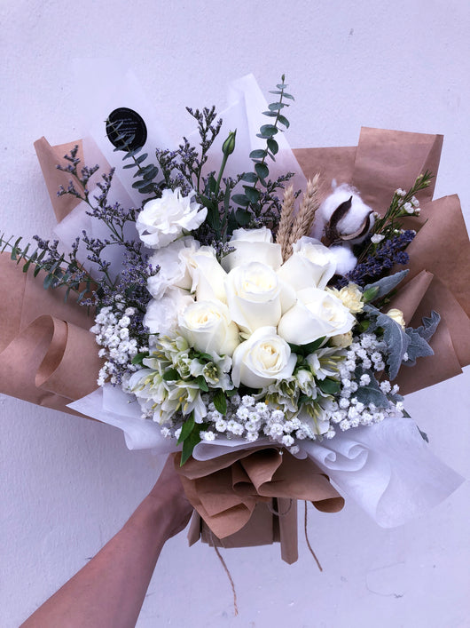 Rustic white roses bflorist rustic white roses mightylinksfo