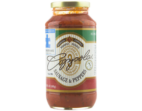 Coppola's Sausage and Pepper Sauce (Single Jar)