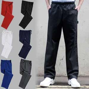 Chefs Trousers. Standard Sizes. DC18 (Denny's Unisex Plain)