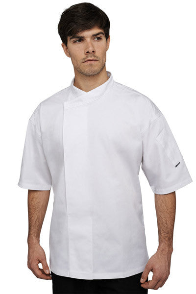 Chefs Tunic. DE50S (Le Chef Academy White Short Sleeve Tunic)