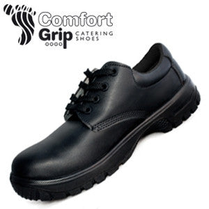 Comfort Grip Lace-Up Shoe With Safety Toecap. DK42