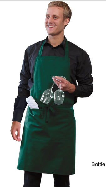 Bib Apron With Pocket And Adjustable Halter. DP55