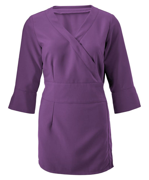 a. Tunic. NF83. (Women's 3/4 sleeve wrap tunic)