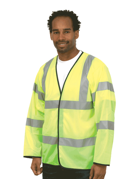 Hi-Viz Long Sleeve Safety Waist Coat. UC802