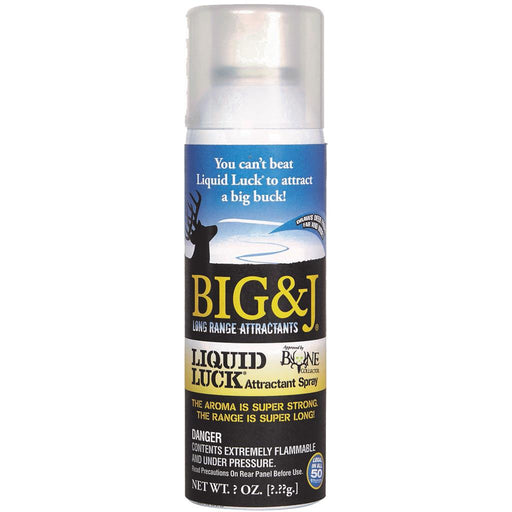 Big and J Liquid Luck Aerosol Spray Attractant 8 oz.