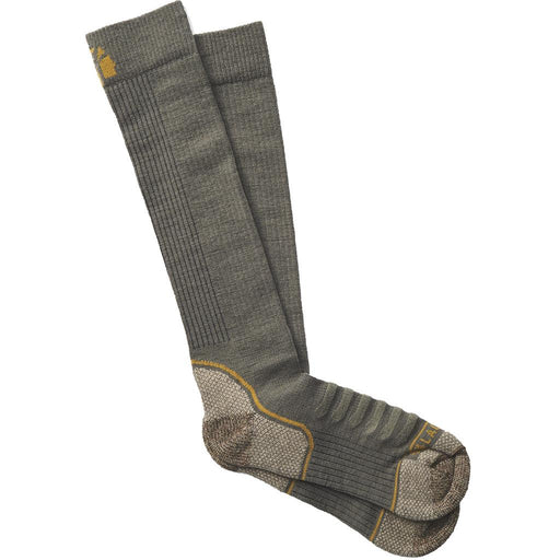 Lacrosse Men's Copper Merino Socks Midweight Over the Calf OD Green Large