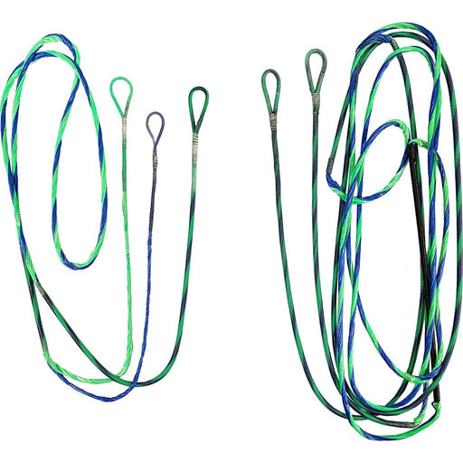 FirstString Genesis String and Cable Set Flo Green/ Blue