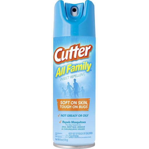 Cutter All Family Insect Repellent Aerosol 7% DEET 6 oz.