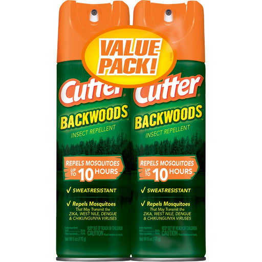 Cutter Backwoods Insect Repellent 25% DEET 6 oz. 2 pk.