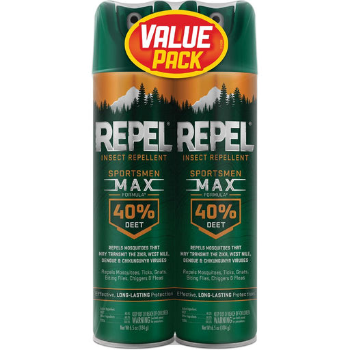 Repel Insect Repellent Sportsmen Max Formula 40% DEET 6.5 oz. 2 pk.