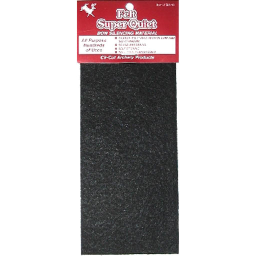 Cir-Cut Felt Silencing Material Black 3x7 in. 1 pk.